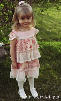 Vintage Girl's Easter Dress and what pattern was used to make it