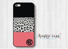 leopard Monogram phone case for iphone and samsung galaxy