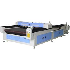 Double heads soft toy auto feeding laser cutting machine