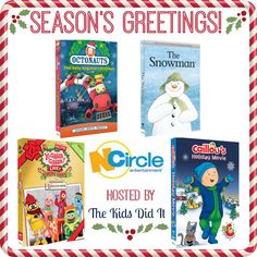 #Win an NCircle Prize Package: The Snowman, A Very Awesome Yo Gabba Gabba! Live! Holiday Show!, Octonauts: The Very Vegimal Christmas, and Caillou's Holiday Movie (ARV $40) #HolidayGiftGuide