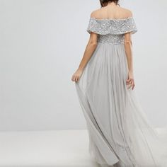 81d78ae62b127 Maternity Styles - modest maternity maxi dress   Honwenle Women Maternity V  Neck Off Shoulder Maxi Tulle Dress with Tonal Delicate Sequins     Find out  more ...