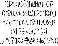JuneGloom Font - Fonts - Ideas of Fonts - JuneGloom font by Des FontSpace Doodle Fonts, Doodle Lettering, Creative Lettering, Lettering Styles, Font Styles, Doodle Art, Cute Fonts Alphabet, Handwriting Alphabet, Hand Lettering Alphabet