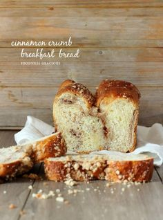 Moist Cinnamon Crumb Breakfast Bread | Foodness Gracious