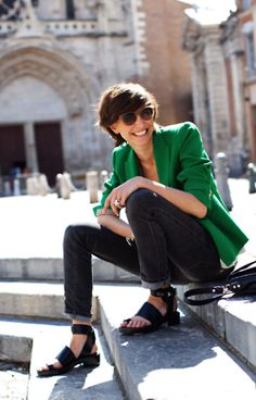 Ines de la Fressange - if you have long, lithe legs, be grateful. You are ageless!