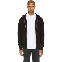 JOHN ELLIOTT Black Flash Dual Zip Hoodie. #johnelliott #cloth #