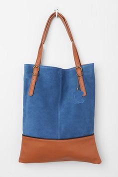 BDG Suede Tote Bag Online Only