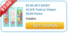 Save 5 Dollars on Baby Alive Products!