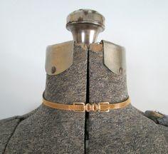 Belt Buckle Choker Necklace Vintage 1960s by looseendsvintage, $30.00
