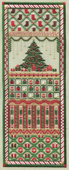 Christmas Panel charted needlepoint- Laura J. Perin Designs