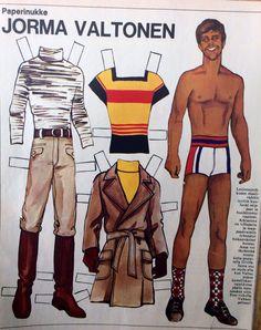 Paper doll Jorma Valtonen 1970's