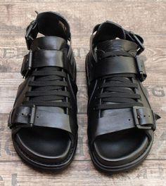 stilecht - mode für frauen mit format... - rundholz - Sandalen Gladiator Leder schwarz - Sommer 2013