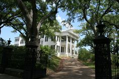 Stanton Hall in Natchez, MS is the largest antebellum home in the US.
