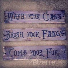 I am forever telling the kids to brush their fangs...lol if I had my own bathroom to decorate and not a shared one.
