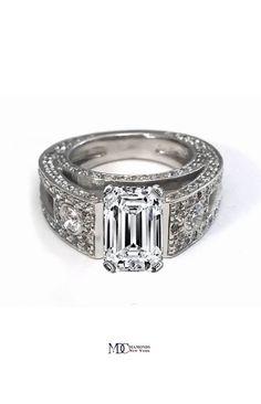 Vintage Emerald Cut Diamond Engagement Ring ****** LOVE LOVE LOVE!!!!!!!!!