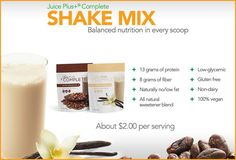 "As one of my friends put it . . . ""Juice Plus+ Complete is a LIFE SAVER!""  Imagine being able to mix up a delicious chocolate or vanilla shake in a couple of minutes that not only provides you with healthy nutrition, it is also so easy and nourishing that it will become a time-saving investment that will SIMPLIFY your life.    Click here to watch the 2 minute video: http://safeYouTube.net/w/Zsm  stlouisjuiceplus.com"
