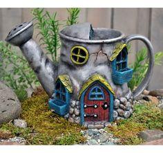 Миниатюрный сказочный сад лейки дом | eBay