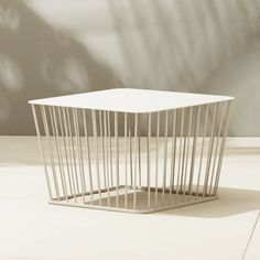Shop wire coffee table.   Retro lives modern in this wire cage design from the bright minds at Berlin-based design studio Hettler. Tüllmann.