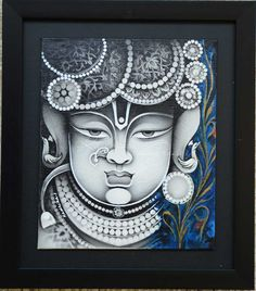 Find out the finest collections of Supreme Acrylic on Canvas Arts from Radhika Seksaria, an Indian Painting Artist offering finest art work, digital print. Worli Painting, Kerala Mural Painting, Ganesha Painting, Ganesha Art, Krishna Art, Acrylic Painting Canvas, Canvas Art, Krishna Images, Pichwai Paintings