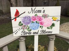 garden signhand painted custom ordered by DaisyCustomPainting Painted Mailboxes, Black Pergola, Outdoor Paint, Garden Quotes, Hand Drawn Flowers, Wooden Pergola, Garden Signs, Yard Art, Hydrangea
