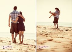 Engagement Photoshoot at Exmouth Beach - Devon - The Event Studios
