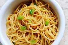 Sesame noodles.  I would try cooking the sauce a bit . . .