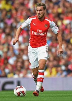 Aaron Ramsey of Arsenal FC in the Emirates Cup http://www.fifafootballshirts.co.uk/arsenal-shirt/