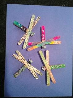 Dragonfly SWAPs for Camporee made by a Girl Scout Brownie by elisabeth