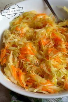 Polish Recipes, Coleslaw, Japchae, Food To Make, Cabbage, Grilling, Food And Drink, Yummy Food, Vegetables