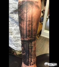 Image result for tattoo sleeve forest