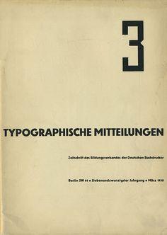 Cover Typographische Mitteilungen, 27. Jahrgang, Heft 3, März 1930