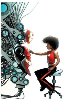 Invincible Iron Man #1 variant cover - Riri Williams by Mike McKone *