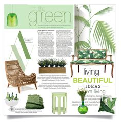 """""""Green Day"""" by lacas ❤ liked on Polyvore featuring interior, interiors, interior design, home, home decor, interior decorating, Cole & Son, Laura Ashley, Safavieh and Eichholtz"""