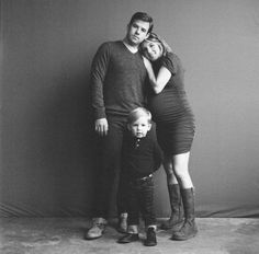 studio family photos in black and white // Cat Thrasher photography