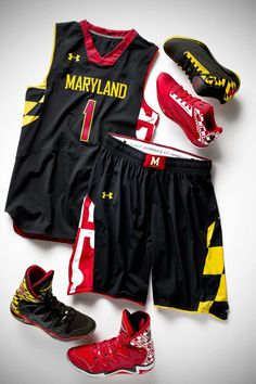 Maryland Men's Basketball Pride Jerseys - Black Version