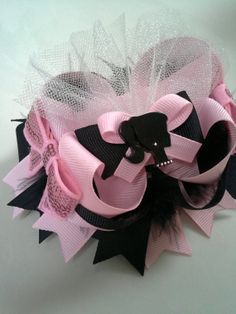 Pink and Black Barbie Doll Inspired Stacked by TheJMarieBoutique, $9.99