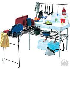 Camp kitchen...oooooohhhh! Love this!