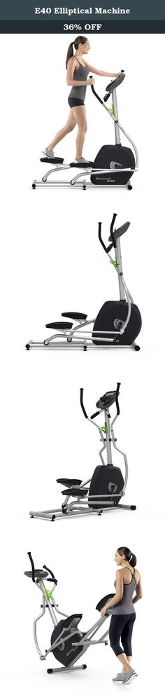E40 Elliptical Machine. The E40 Elliptical Trainer is the perfect low-impact training option for a fully engaged cardio workout. Easily monitor your calorie burn on our informative LCD console utilizing any of our seven challenging workout programs. Toning your arms, strengthening your core and increasing your heart rate while minimizing the stress on your joints is a uniquely satisfying and time-saving workout achieved on an Elliptical Trainer. The Universal E40 delivers all the results…