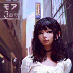 Shinjuku, Ilya Kuvshinov on ArtStation at http://www.artstation.com/artwork/shinjuku