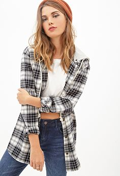 Flannels are huge this fall and forever21 has a huge selection! This is the Hooded Plaid Flannel   FOREVER21 - 2000098874
