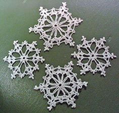 4 Crochet Snowflakes | Thread crochet in honor of our crazy … | Flickr