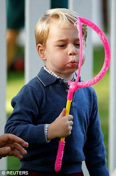 Prince George at a children's party at Government House Canada. September 29 2016