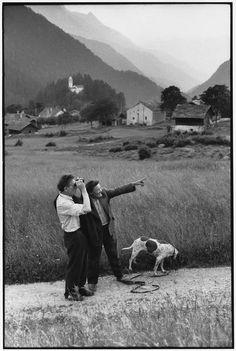 © Henri Cartier-Bresson/Magnum Photos Switzerland. Region of Grisons. Village of Stampa. Left: Alberto GIACOMETTI. 1961.