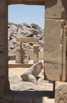 Kalabsha Temple  moved by the construction of the Aswan Dam Egypt