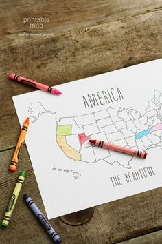 Free Printable Map Of The United States Http Www Allkindsofthingsblog Com