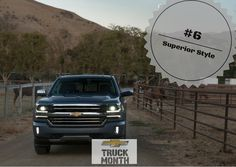 Top ten reasons to drive a Chevy Silverado! #6: Superior Style. The Silverado is one good looking truck!