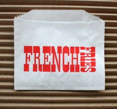 Vintage Style White French Fries Bags  White with by InTheClear