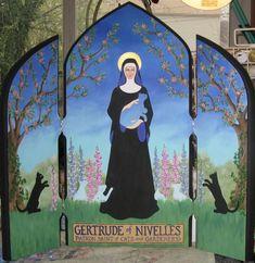 St. Gertrude of Nivelles.
