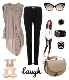 """Always Laugh!!"" by schenonek on Polyvore featuring moda, Giuseppe Zanotti, Rick Owens Lilies, Paige Denim, Cutler and Gross, Repossi, Hadoro y Kate Spade"