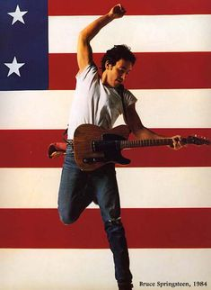 Annie Leibovitz, Bruce Springsteen, 1984----this is not the Born in the USA album, but I love this more.   That concert was my very first. And at Giants Stadium!!