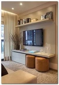 Afforable Small Apartment Living Room Ideas On A Budget 45 Small Living Rooms, Small Apartment Living Room, Living Room Tv, Small Apartments, Living Room Decor Apartment, Small Apartment Decorating Living Room, Apartment Design, Grey Furniture Living Room, Small Apartment Living